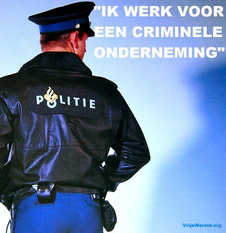 politie agenten u bent medeplichtig aan deelname aan een criminele organisatie